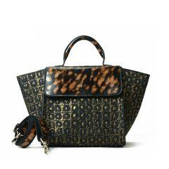 KILIKILI - Golden Croc Leather Tote
