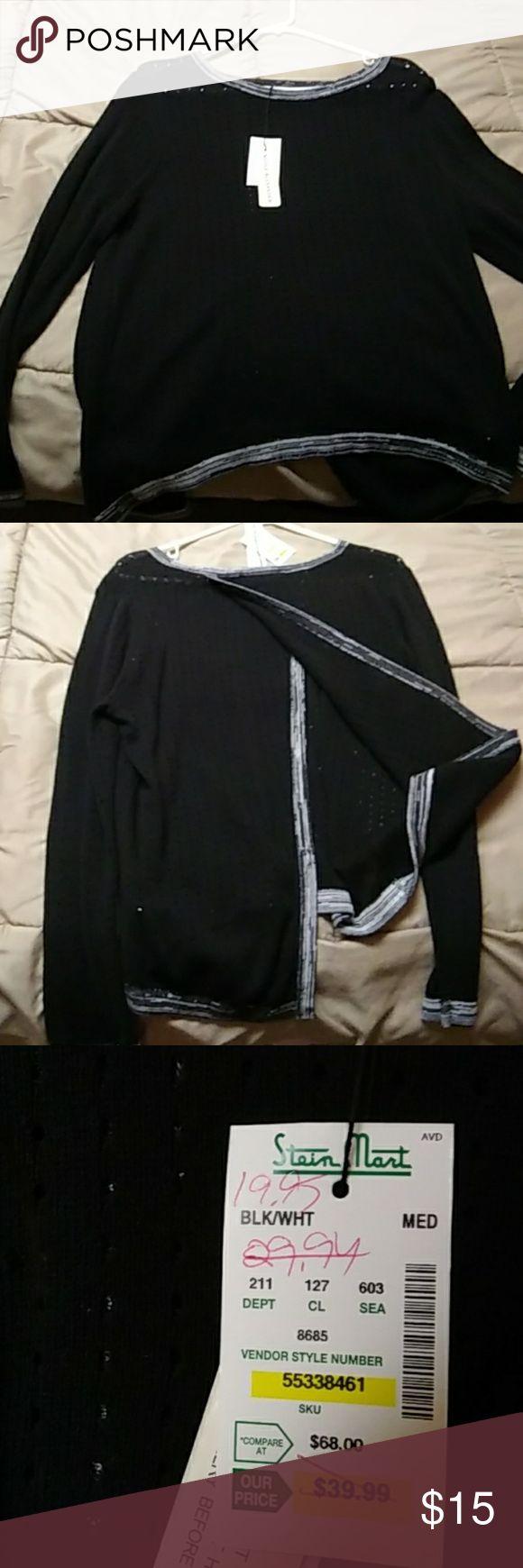 Open back shirt NEVER WORN nicole alexander Tops Tees - Long Sleeve