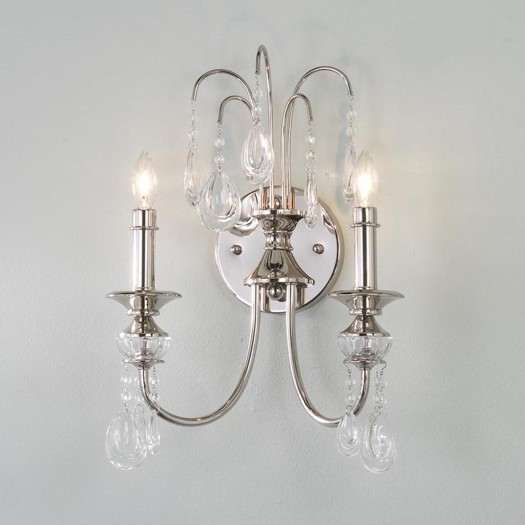 Teardrop Crystal Sconce | Bathroom candles, Crystal sconce ... on Crystal Bathroom Sconces id=80063