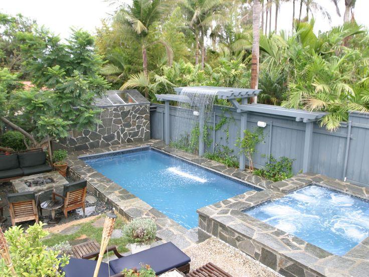 50 best pool designs images on pinterest for Pool design rectangle