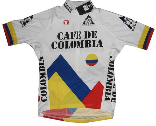 Classic cafe de colombia bike jersey!