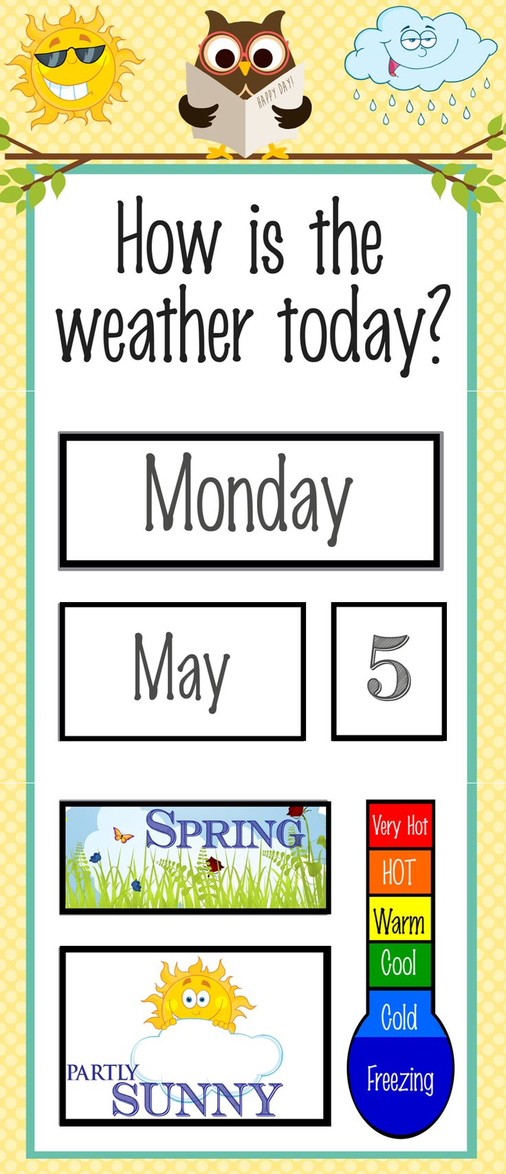 The 25 best weather charts ideas on pinterest um weather owls classroom weather chart biocorpaavc