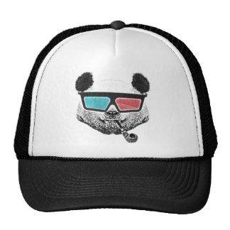 Vintage panda 3-D glasses Mesh Hats