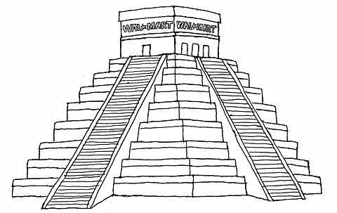 mayan pyramid coloring pages - photo#14