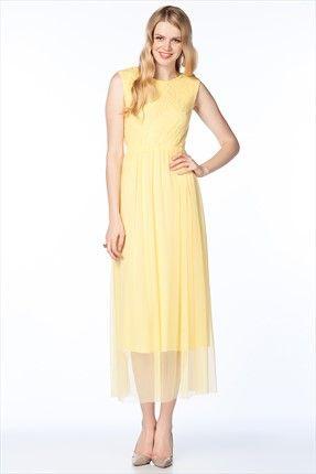 Deniz Akdağ - Asil Kadının Seçimleri - Sarı Elbise 31693 %50 indirimle 49,99TL ile Trendyol da