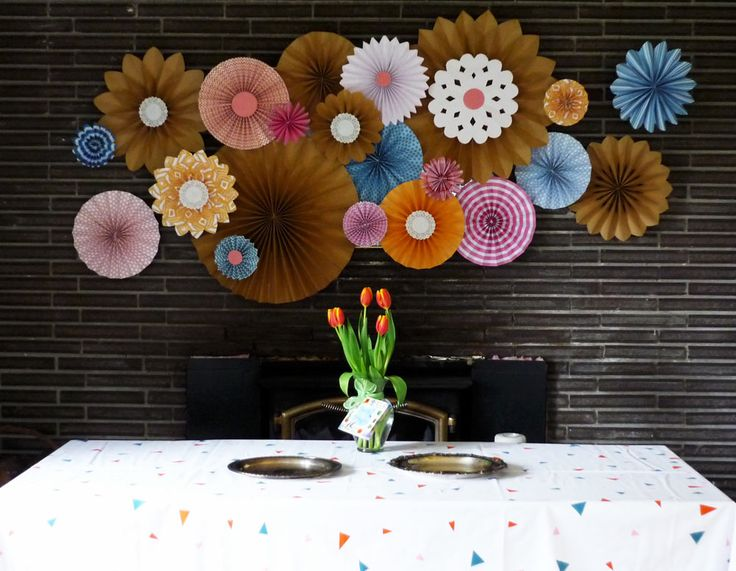 Something like this but with the wedding colors easy DIY can I help with the decor at least?!? :P