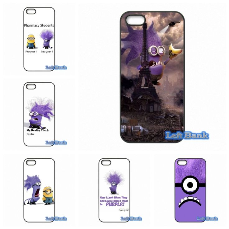 Pretty Purple minion wallpaper Art Cell Phone Cases Cover For Apple iPhone 4 4S 5 5S 5C SE 6 6S 7 Plus 4.7 5.5 iPod Touch 4 5 6