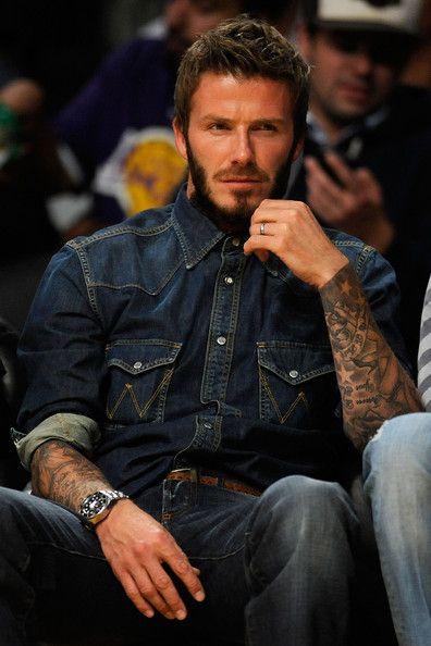 Beckham beard fashion Style icon men tumblr steetstyle celeb tatted tattoo