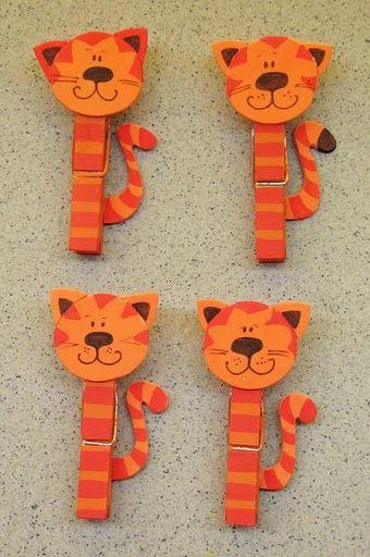 clothespin cats - csipesz cicák
