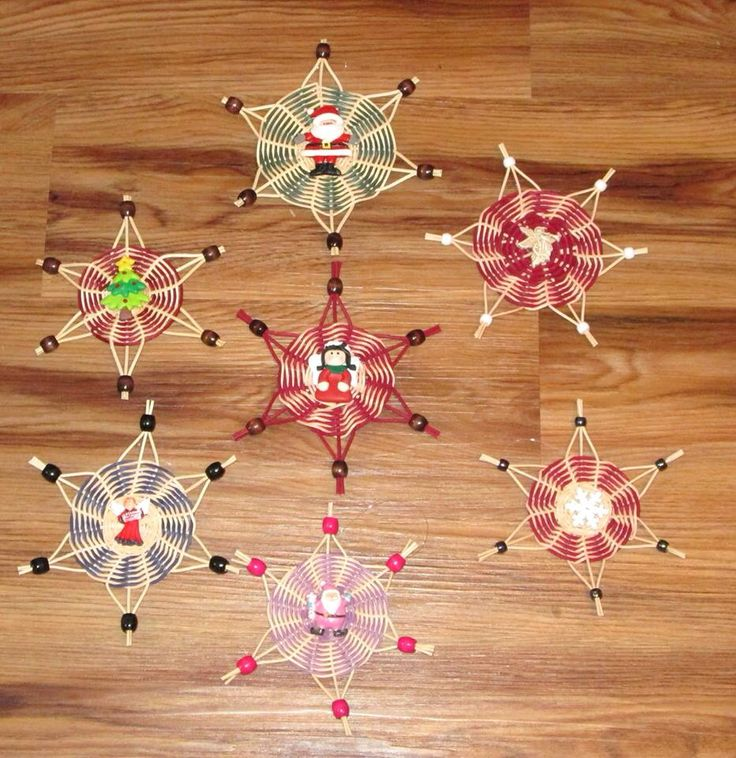 Habasketry's chase weave Christmas ornaments