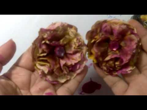 TUTORIAL - Handmade Flowers. Paper Bag Flowers using a few different mediums.