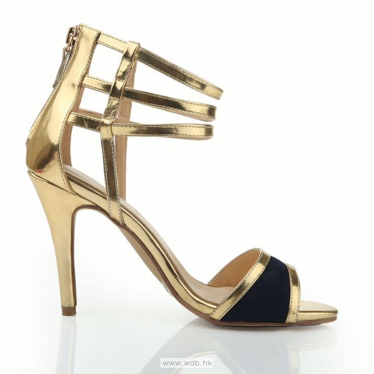 4 inch Gold Stripes PU shoes $41.98