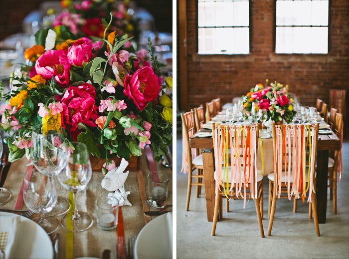 Bright pink and yellow wedding ideas by Sacramento wedding photographer, Tinywater Photography, http://tinywater.com