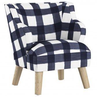 Addison Kids Chair, Buffalo Square Blue