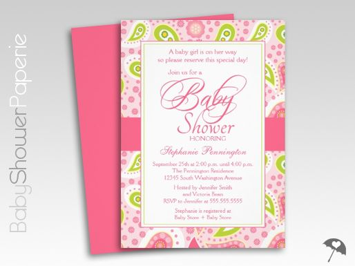 Pink and green paisley baby shower invitations related keywords and tags 1000 ideas about paisley baby showers on pinterest filmwisefo