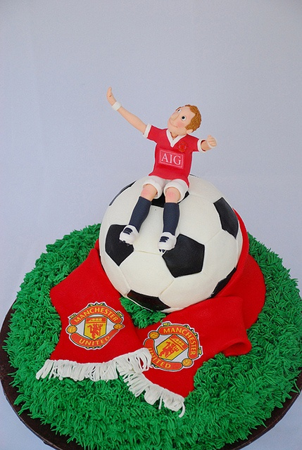 how to make a round football cake