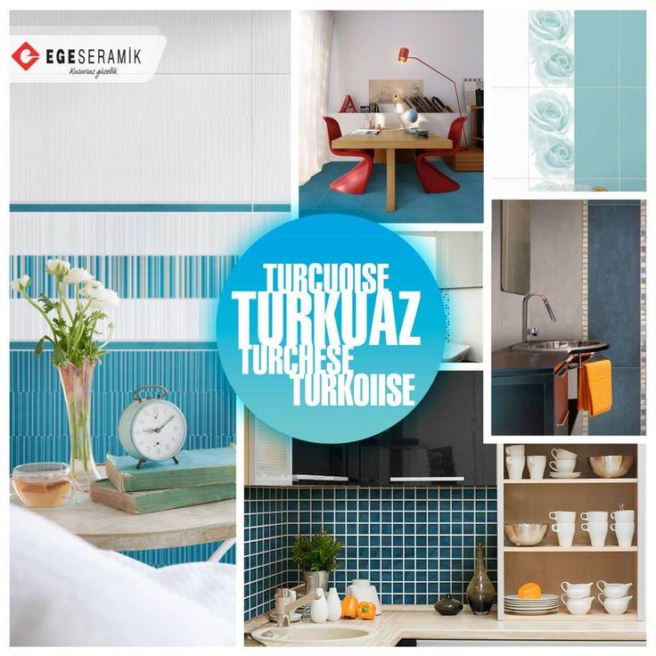 Uzmanlar turkuaz rengin, günün stresini ve zihinsel yorgunluğunu gidermek isteyenler için birebir olduğunu belirtmektedir. Ege Seramik Apollon, Valeria, Diva, Neptune, Torro ve Armada serileri içinde yer alan turkuaz renk alternatiflerini huzur veren mekanlar için tavsiye ederiz.  #egeseramik #turkuaz #turquoise #tile #decoration #seramik #ceramic #home #floor #kitchen #bathroom #banyo #mutfak