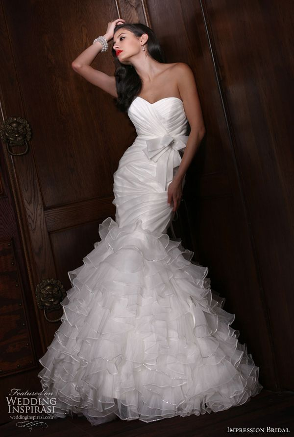 marmaid Wedding Dresses   More gorgeous Impression Bridal wedding gowns on the next page.