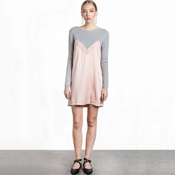 New arrival: Chicloth  Pink an... Don't Miss it out!  http://chicloth.com/products/chicloth-pink-and-gray-stitching-scoop-neck-dress?utm_campaign=social_autopilot&utm_source=pin&utm_medium=pin