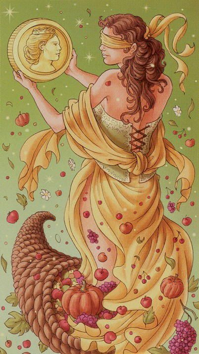 The Ace of Pentacles indicates the beginning of prosperity and successful ventures. It implies that all is going to plan and is coming together in the most auspicious way possible. {Ace of Coins/Pentacles}