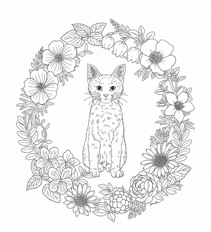 garden state parkway sign coloring pages | Harmony Of Nature Adult Coloring book Pg 39 | Color pages ...