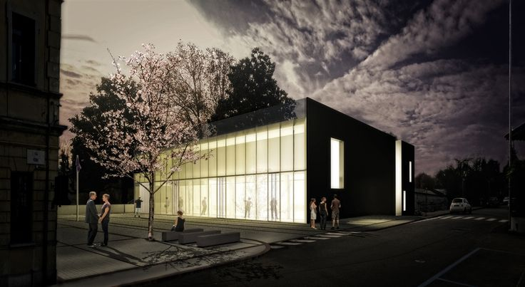 OPERASTUDIO - Project - Cultural and sport center - Varese #italy #lake #bynight