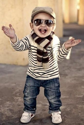 Fashionable kids with strong opinions already! Seriously if i ever have a kid he is wearing this