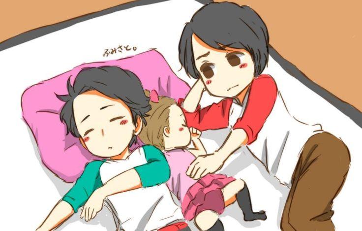 Ohno and Sakurai, baby sitters