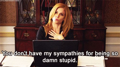 "When you tried to warn your friend about that thing and they didn't listen: | 16 Important And Relatable GIFs Of Donna From ""Suits"""