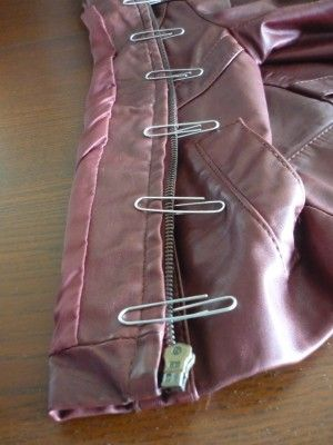 Fixing up an old leather jacket: Part 1 - Replacing Zipper