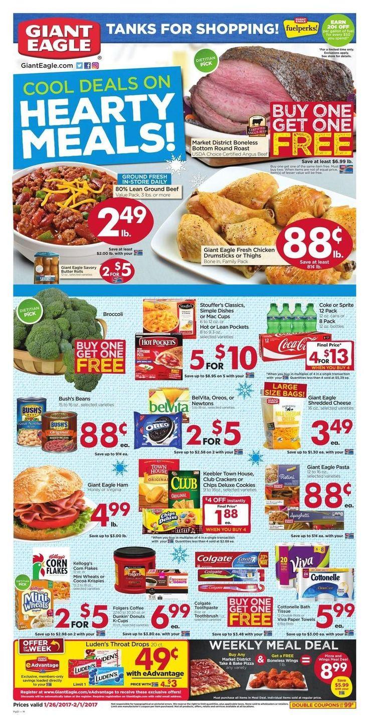 Giant Eagle Weekly Ad Circular Jan 26 - Feb 1 United States #Grocery #GiantEagle