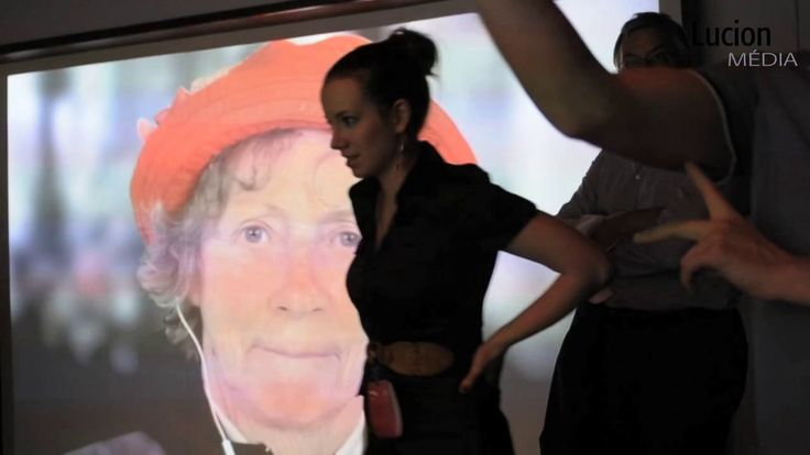 "Lucion - ""ENTREvoir"" in Montreal, interactive video installation http://lucionmedia.ca"
