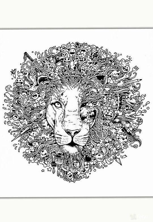 100 Best Animorphia Doodle Coloringpages Images On Pinterest