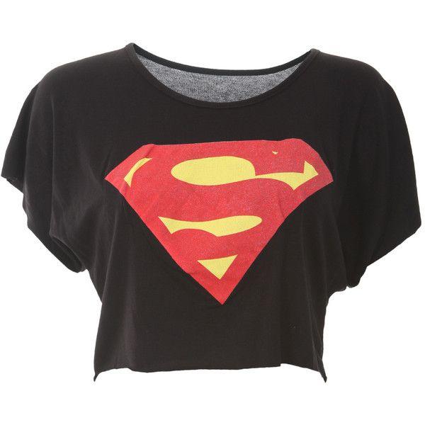 Superman Crop Top (MORE COLOURS) - Womens Clothes, Ladies Clothes,... via Polyvore
