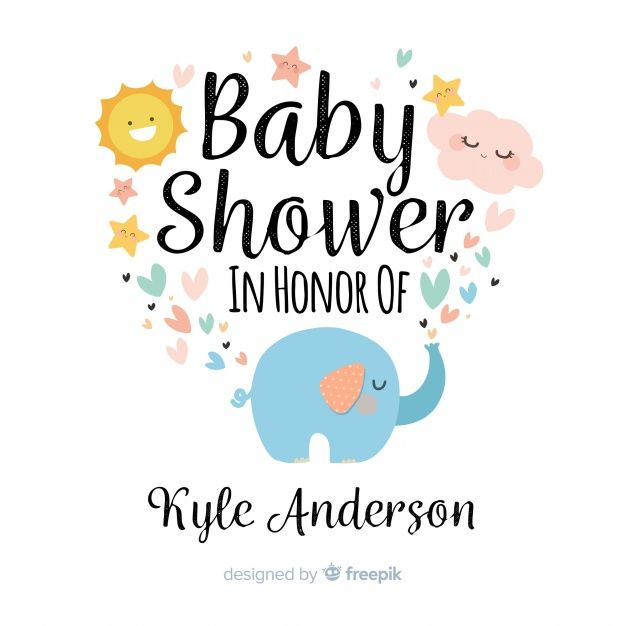 download cute baby shower background for free | babyparty