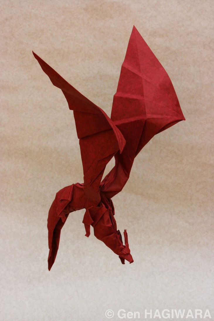 Origami Dragon   origami dragon by gen h artisan crafts folding papercraft origami 2013 ...