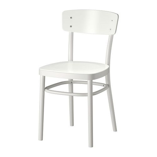 IDOLF Chair IKEA You sit comfortably thanks to the shaped back.  A cheap substitute to the classic Bistro chair.