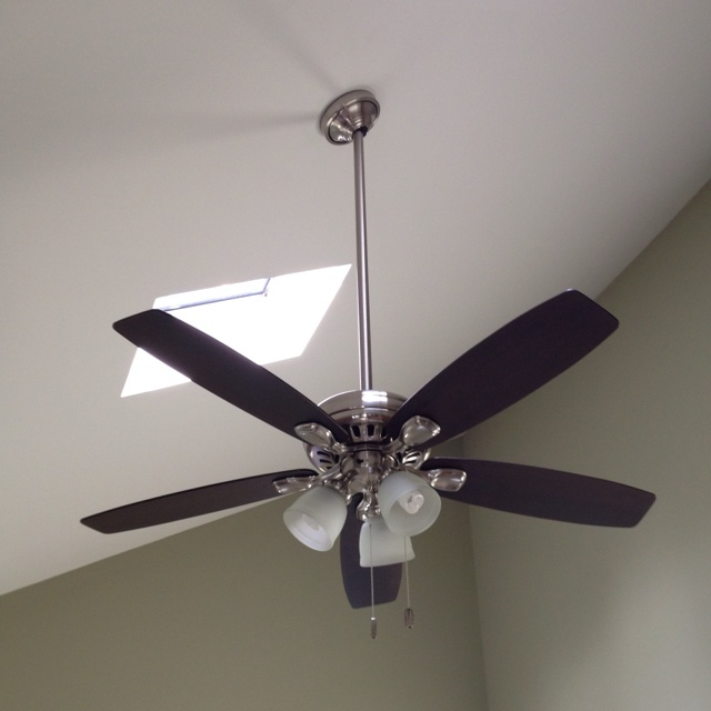 Hunter Millican 58 Led Antique Pewter Ceiling Fan At: New Hunter Highbury Ceiling Fan With 3ft Downrod Installed