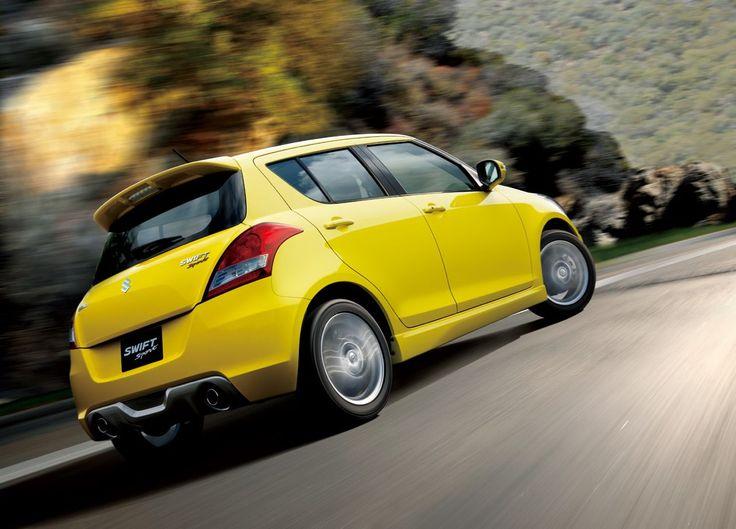 Yellow Suzuki Swift Sport