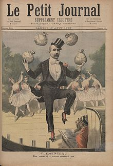 « Le pas du commandité », Clemenceau attaqué par Le Petit Journal, éd. du 19 août 1893.