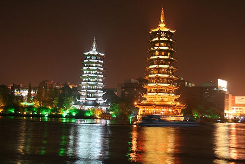 Two pagodas in Guilin, China.: Visited Places, Guilin, China