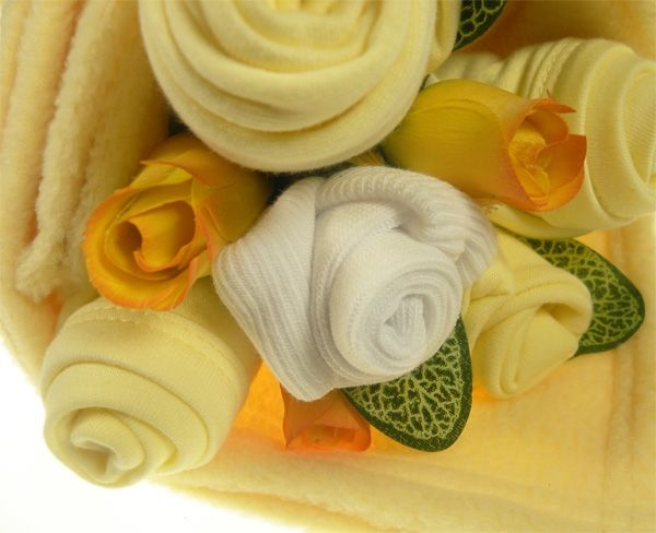 Traditional Baby Lemon Clothes Bouquet | Unisex Baby Gift | Say It Baby