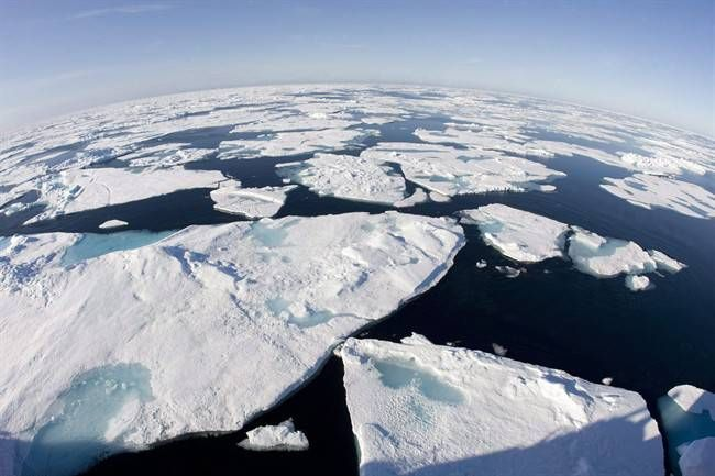 Arctic sea ice is at a record low for the third straight year, according to measurements from the U.S.-based National Snow and Ice Data Center. (Photo via THE CANADIAN PRESS/ Jonathan Hayward)
