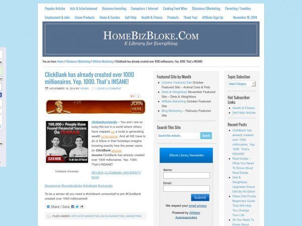 ClickBank has already created over 1000 millionaires. Yep. 1000. That's INSANE!