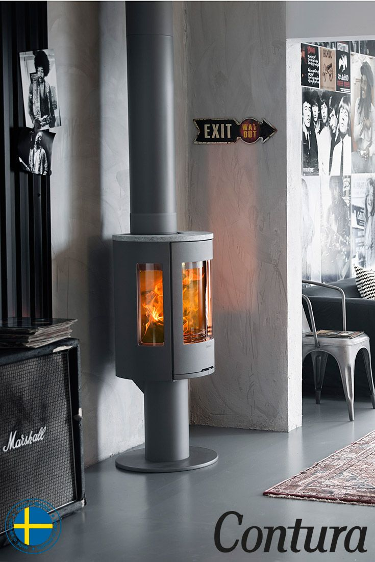 The Contura 586 Style is a stove for those who like modern style. The handles do not get hot and are integrated into the front of the stove.