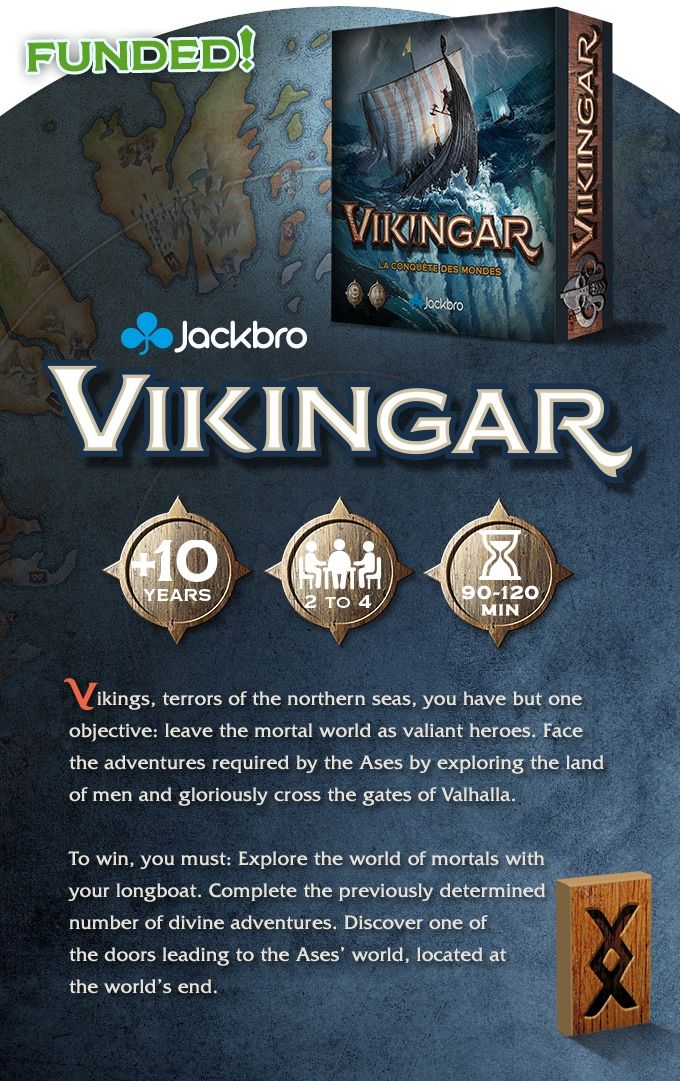 Viking theme Board game for 2-4 players with outstanding Arts and Runes throwing. Where you play as Viking: exploring, fighting...