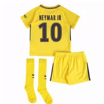 PSG Neymar Jr 10 kläder Barn 17-18 Bortatröja Kortärmad  #Billiga #fotbollströjor