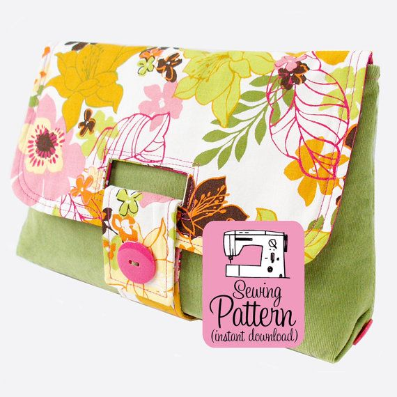 Strap Clutch PDF Sewing Pattern Handbag by michellepatterns