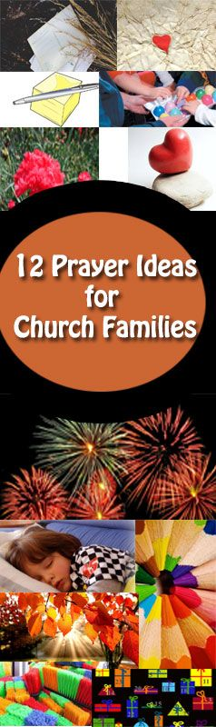 12 great ideas to get families praying for one another at your church. You'll <3 these! #kidmin #sundayschool