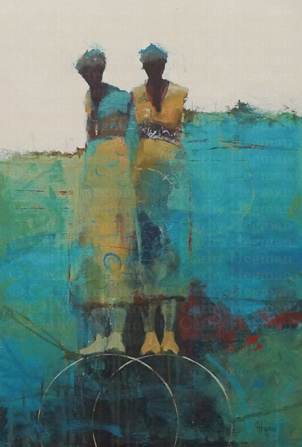 weight of balance recession ~ acrylic on canvas ~ by cathy hegman, shown t Tew Gallery in Atlanta